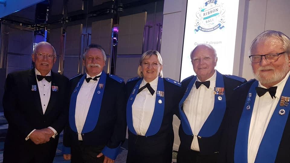 Police Legacy Blue Ribbon Ball - COM Member Allan Simpson, RFPA Gazette Editor Paul Wynne, COM Member Beth Docksey, RFPA President Paul Biscoe and RFPA State Secretary Peter Rankin at the Police Legacy Blue Ribbon Ball.